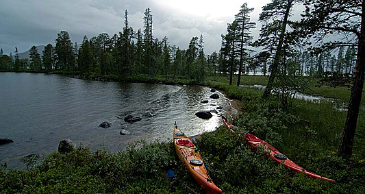 Paddling in Lapland 2012
