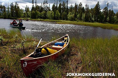 canoeing, paddling, Lapland